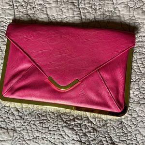 ASOS large pink envelope clutch